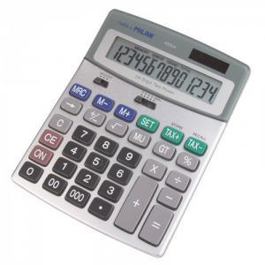 Калькулятор настольный полноразмерный 14 разрядов 40924BL Milan