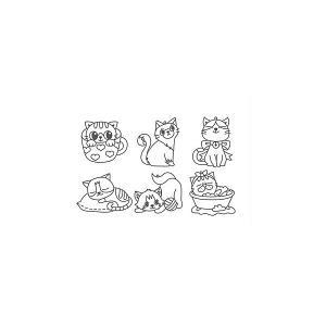 Набор мини-витражей  Весёлые котята, 6 шт Amos