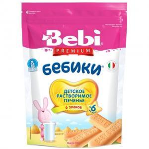 Печенье  Бебики Premium 6 Злаков, 115 г Bebi