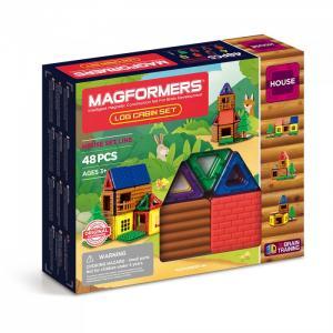 Конструктор  Магнитный Log Cabin Set (48 деталей) Magformers