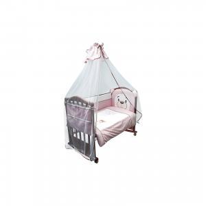 Комплект в кроватку 6 предметов , Умка, розовый Сонный гномик