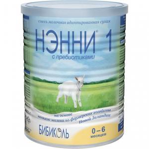 Молочная смесь  1 на козьем молоке гипоаллергенная 0-6 месяцев, 400 г Нэнни