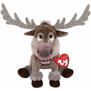 Мягкая игрушка TY Северный олень Свэн, 15 см. Цвет: коричневый