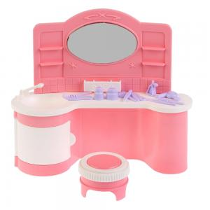 Игровой набор  Салон Парикмахерская розовая Огонек