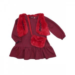 Комплект для девочки (жилет, платье, сумка) 3253 Baby Rose