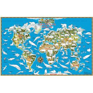 Карта-раскраска Обитатели Земли Издательство Ди Эм Би