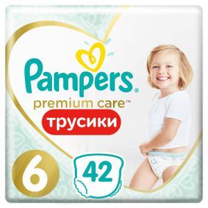 Трусики-подгузники  Premium Care Pants, р. 6, 15+ кг, 42 шт Pampers