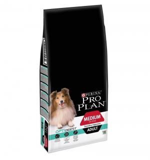 Сухой корм  для взрослых собак средних пород с чувствительным пищеварением, ягненок, 14кг Pro Plan