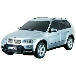 Радиоуправляемая машина  BMW X5 1:18, серебряная Rastar. Цвет: серебряный