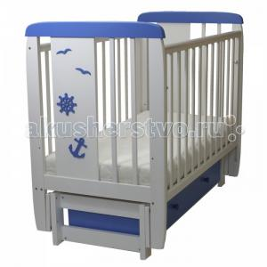 Детская кроватка  05 Юнга 3D с ящиком (поперечный маятник) Соня