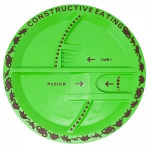 Тарелка с изображением динозавров Constructive eating