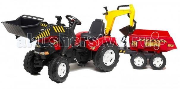Трактор-экскаватор с прицепом и ковшом 995W Falk