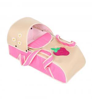 Люлька-переноска для ребенка  Ягодка, цвет: розовый/светло-бежевый Slaro