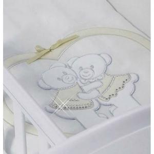 Комплект в колыбель  для двойни Baby Beddings Culla Gemelli Doppio Nino Enchant (одеяло, борт) Feretti