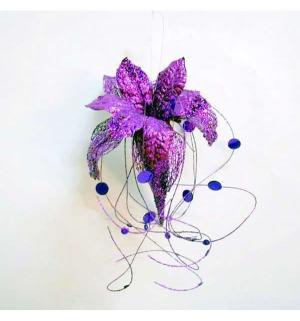 Декоративное украшение  Гранд Карнавал Волшебный цветок фиолетовый 35 см Winter Wings
