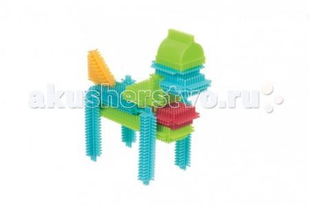 Конструктор  игольчатый в коробке 56 деталей Bristle Blocks