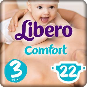 Подгузники  Comfort Midi 3 (4-9 кг) 22 шт. Libero