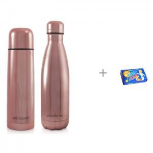 Термос  и термобутылка MyBaby&Me 500 мл с мылом Свобода Тик-так 150 г Miniland