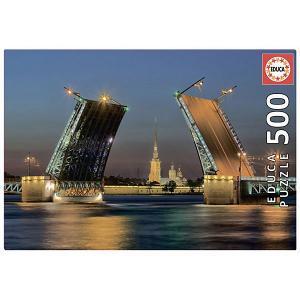 Пазл  Развод Дворцового моста в СанктПетербурге 500 элементов Educa