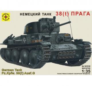 Сборная модель  танка 38(t) Прага 1:35 Моделист