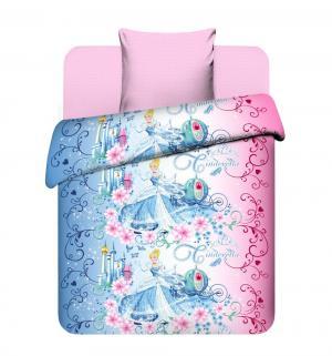 Комплект постельного белья  Прекрасная Золушка, цвет: голубой/розовый Василек