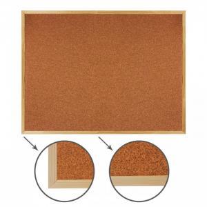 Доска пробковая деревянная рамка 90х120 см Brauberg