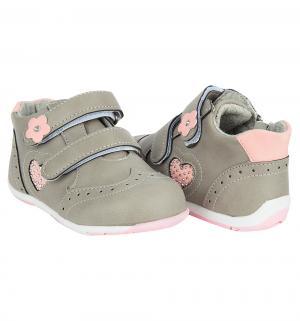Ботинки , цвет: серый Прыг-Скок