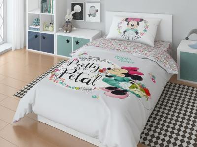 Постельное белье  1.5 спальное Pritty minnie наволочка 70х70 (3 предмета) Disney