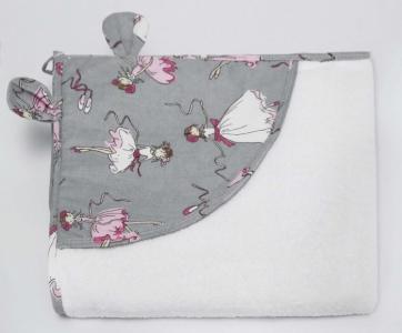 Полотенце с уголком Cute love Мечта 90х90 см AmaroBaby