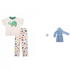 Пижама из хлопка Черепашки с халатом банным Батик М0001 КотМарКот