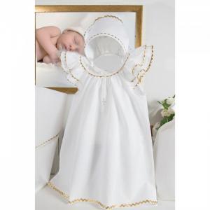 Комплект для крещения девочки (платье, чепчик, пеленка, мешочек) Pituso