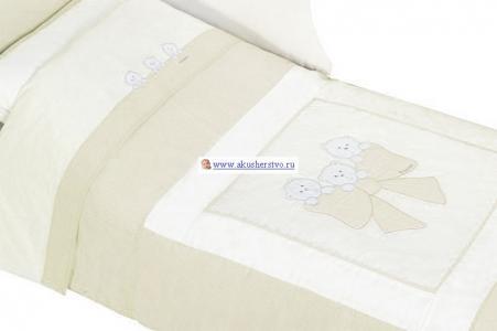 Комплект в кроватку  Бантик длинный борт (6 предметов) Andy & Helen