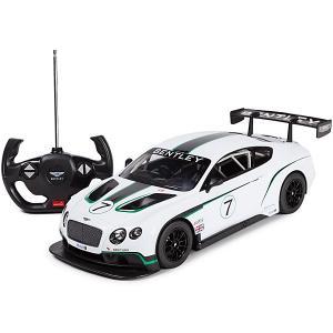 Радиоуправляемая машина  Bentley Continental GT3 1:14, белая Rastar. Цвет: белый
