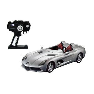 Радиоуправляемая машина  Mercedes-Benz SLR 1:12, серебряная Rastar. Цвет: серебряный