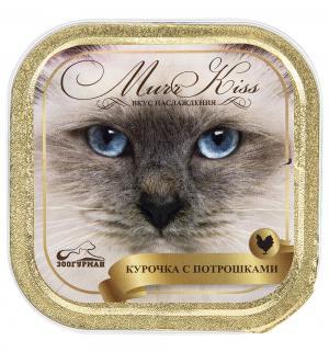 Корм влажный  MurrKiss для взрослых кошек, курочка с потрошками, 100г Зоогурман