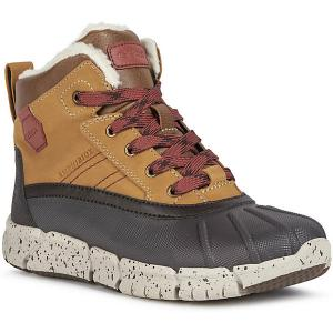 Утеплённые ботинки Geox. Цвет: braun/rot