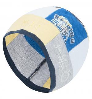 Шапка  Majet, цвет: желтый/синий Jamiks