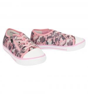 Кеды , цвет: розовый/серый Betsy