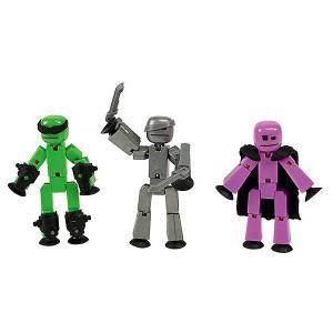 Три фигурки Stikbot Off the Grid, Raptus Zing