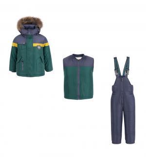Комплект куртка/жилет/полукомбинезон , цвет: зеленый Fobs