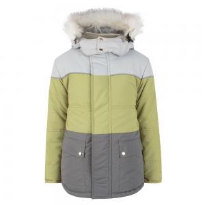 Куртка  Троя, цвет: серый/зеленый Ursindo