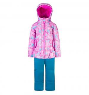 Комплект куртка/полукомбинезон , цвет: розовый/голубой Gusti
