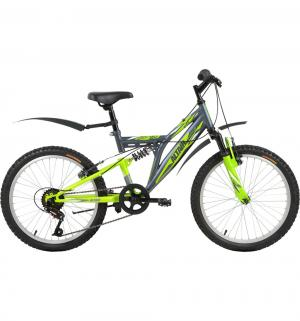 Детский велосипед  MTB FS 20, цвет: серый/зеленый Altair