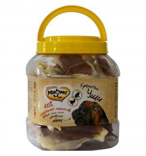 Лакомство  для собак кроличьи уши с куриным мясом, 700г Мнямс