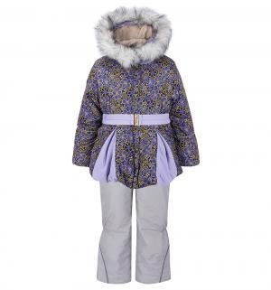 Комплект куртка/полукомбинезон , цвет: розовый/сиреневый Ursindo