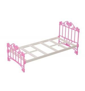 Мебель для куклы  Кроватка розовая без п/п Огонек