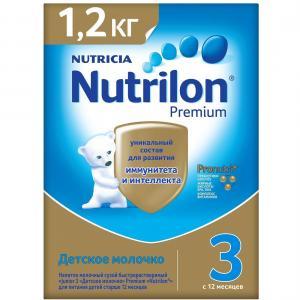 Детское молочко  Premium 3 с 12 мес, 1200 г Nutrilon