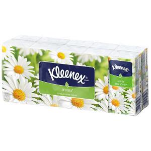 Носовые платочки  Chamomile, упаковка 10 штук Kleenex