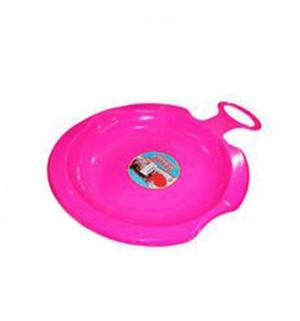 Санки  Снежный вихрь, цвет: розовый Пластик
