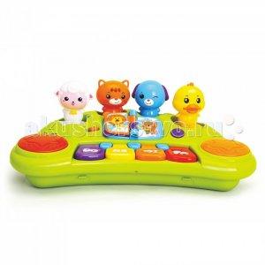 Развивающая игрушка  Пианино весёлые зверята (музыка, свет) Huile Toys